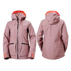 Comercio al por mayor desgaste de la chaqueta de nieve de alta calidad resistente al agua de la chaqueta de esquí de mujer