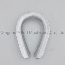 C15 炭素鋼 G414 超ヘビーワイヤロープ・シンブル