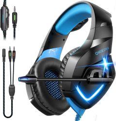 Son stéréo avec microphone PC Gaming Headset, plus de jeux PS4 de l'oreille casque avec micro antibruit