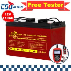 Csbattery 12V110ah стабильная работа гель для аккумуляторной батареи двигатель солнечных морозильной камере/Turbine-Generator/Emergency-Lighting/Vs: Ritar/священный сан и Эми