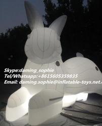 Riesiges aufblasbares weißes Kaninchen-Maskottchen für Verein-Dekoration