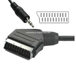21 de la patilla Euroconector a Jack de audio de 3,5 mm (4 polos) (JHST08)