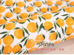 Оранжевый шаблон печати из ткани полотенного транспортера