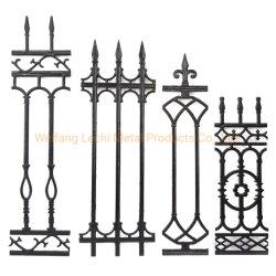Estilo ornamental hermosas antigüedades decorativas valla de hierro fundido topes