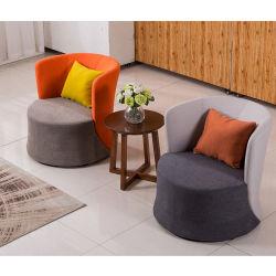 Le bas du dos baignoire chaise comme monoplace fauteuil en tissu de couleurs