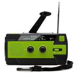 De nieuwe Radio van het Weer van de FM van Handcrank ZonneAm met Super LEIDEN Flitslicht