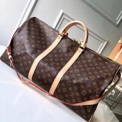 Классические надписи реплики роскошь Bag дамы футляры сумки через плечо самых высоких затрат Performan Keepall 55см размер L^V большой поездки дамской сумочке