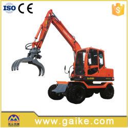 ログが付いている中国の真新しい車輪の掘削機は取り組む