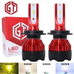 Commerce de gros feux automatique de K5 H4 H7 H11 9005 9006 HB3 Hb4 55W 12000LM S2 C6 X3 S1 LED Lampe phare de voiture