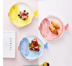 ساطع لون أطفال طفلة صفّى طالب [هيغقوليتي] الصين خزف خزفيّ يأكل [دينّرور] [كيتشنور] أداة مائدة لوحة طبق غسّالة الصّحون غسل خزينة