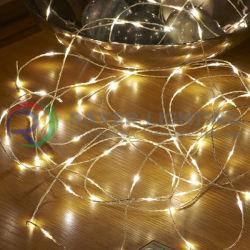 Теплый белый свет светодиодного освещения отрезке улицы Рождество открытый волшебная фонари