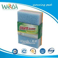 柔らかい手感じの軽量台所クリーニング製品の磨くパッド
