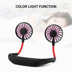 Ventilator van de Hals van de LEIDENE de Draagbare Ventilator USB van de Hand Vrije Mini Hangende