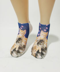 Vendita all'ingrosso di calzini corti per bambini Fashion Printed calzini per cartoni