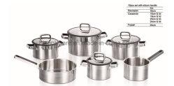 Nuevo diseño Electrodoméstico 10pcs de acero inoxidable utensilios de cocina Olla Pan Set