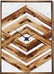 큰 손으로 그리는 벽 예술 현대 나무로 되는 시계 현대 장식 삽화 (30X 40 인치) GF-P190527172