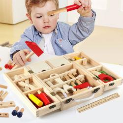 Het houten Stuk speelgoed van de Doos van de Uitrusting van het Hulpmiddel voor Peuters 3 van de omhoog Onderwijs Houten Toolbox Jaar Reeks beweert het Stuk speelgoed van het Spel voor Jonge geitjes, Grote Gift van het Stuk speelgoed van de Bouw DIY van de Meisjes van Jongens de Creatieve