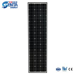 태양 에너지 시스템과 기와를 위한 최신 판매 고능률 경량 박막 100-120W 태양 전지판