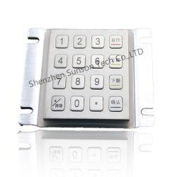 Kiosque en acier inoxydable 16 touches clavier bouton métallique personnalisé antivandale clavier