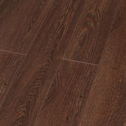 世帯E0 HDF AC4は防水設計されたビニールの木製の木の積層の薄板にされたフロアーリングを浮彫りにした
