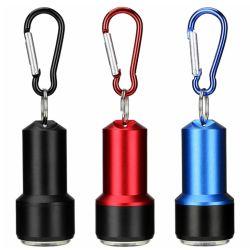 Mini-LED-Aluminiumtaschenlampe, bewegliches Carabiner Keychain PFEILER Fackel-Licht für im Freien wandernde kletternde Dringlichkeit