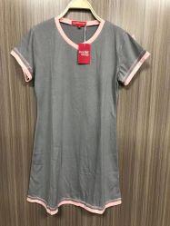 Günstige Schlafanzug Kurzarm Shorts Damen′ S Schlafanzug lose Hausbekleidung Sommerschlafanzug