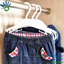 10 칠드렌 나무 플라스틱 코트 옷걸이 어린이 의류 바지 바지 옷걸이 바 화이트
