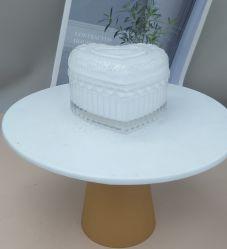 Großhandel Luxus leere Glas Kerzengläser mit Deckel für Kerzenherstellung, Glasbehälter, Glashandwerk, Glas Schmuckdose, Glas, Hochzeitsdekoration Glas Surga Jar