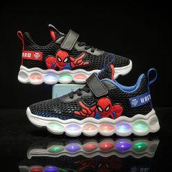 [ببي بوي] [شولس] يشعل رياضة مزح عنكبوت أحذية مع [لد] نعل [مونك-ستربس]
