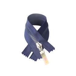 #5 Cierre de plástico final cinta azul con cremallera deslizante de goma