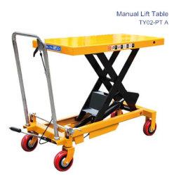 Piattaforma di sollevamento manuale a forbici idraulica mobile / piattaforma di sollevamento / Carrello