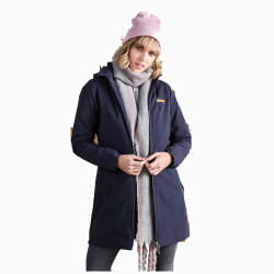 Rivestimento Cotton-Padded lungo del Windbreaker del nylon delle donne 100% di inverno