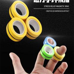 2020 Nova banheira de venda de brinquedos educativos dedo magnético Fidget Spinner Dedo anelar giroscópio magnético de Alívio do Estresse Fidget Brinquedos