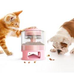 Roze ronde automatische dierenvoer