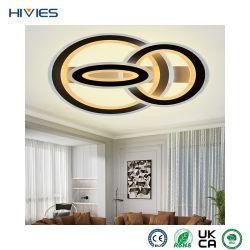 Hiies New Luxury Surface Mounted Rectangle LED 천장 조명 식사 거실 호텔의 객실 램프, 현대적인 조광기, 천장 램프