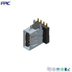 Angle droit 90 degré Electronics af jack USB haut de gamme de composants de montage PCB