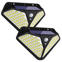 Pronto para embarcar em stock Fast Luzes Dispatchsolar Piscina 102 levou 270 graus de ângulo grande sensor de movimento Security a energia solar candeeiro de parede