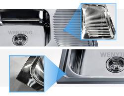 フォーシャン現代流行のデザインステンレス鋼の台所の流し750*440mm
