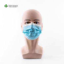 Ce certifiés ISO non tissés jetables 3ply Hospital Medical masque Masque chirurgical, anti Vius Kids boucle de l'oreille de protection masque facial dentaire