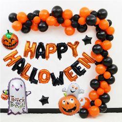 La decoración exterior calabaza hinchable de látex esqueleto ornamento de Globos Globos Cotillón decoración de Halloween feliz suministros