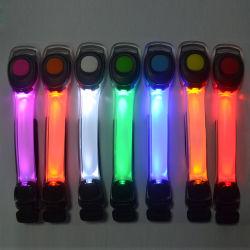 Linliは警告およびたくわえの安全LED白熱点滅の腕章ライト、ロゴプリントとのブランドの昇進のための腕章ランプをカスタマイズした