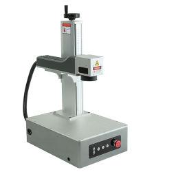 ماكينة الحفر بالليزر ميني فيبر ليزر علامة معدنية CNC آلة حفر للشعار البلاستيكي تحمل طابعة تحمل بطاقة الهوية تثبيت الحبار الخلفي