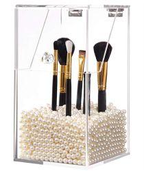 Acrílico decorativo de alta calidad de pincel de maquillaje del organizador de portavasos de acrílico de caja de almacenamiento de portavasos de pincel de maquillaje