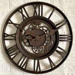 20-дюймовый ржавчины готово See-Through пластиковые Настенные часы
