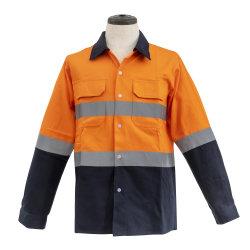 Hallo het In te ademen Overhemd van de Veiligheid van Workware van het Overhemd Vis Weerspiegelende met Lange Kokers