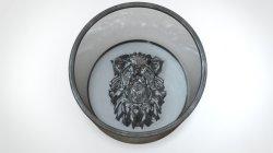Conception d'origine animale en usine Lion en verre de créature de l'eau de boisson tasse à vin//