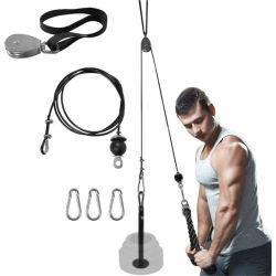 Bras de poulie formateur biceps Triceps salle de gym de levage de poids d'Entraînement Entraînement de la force du poignet exercice à la maison du rouleau de Outils - 1,8 m