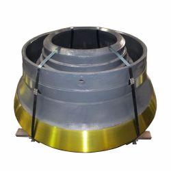 Высокое качество H2000/H3000/H4000/H6000/H8000 конусная дробилка запасные части подбарабанья и мантии