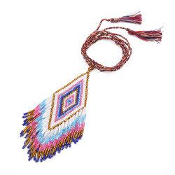 Mlgm Miyuki collana di perle di seme per Donna 2021 Fringe Tassel Nativi americani tessuti a mano Gioielli Piercing imitazione Gioielli di alta oreficeria Pendants Collane con perline