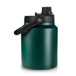 64 زجاجات مياه Oz شعار مخصص نوع من الفولاذ المقاوم للصدأ محمول مزدوج جلبة جعة عارية من الكبريتات مع غطاء فتحة